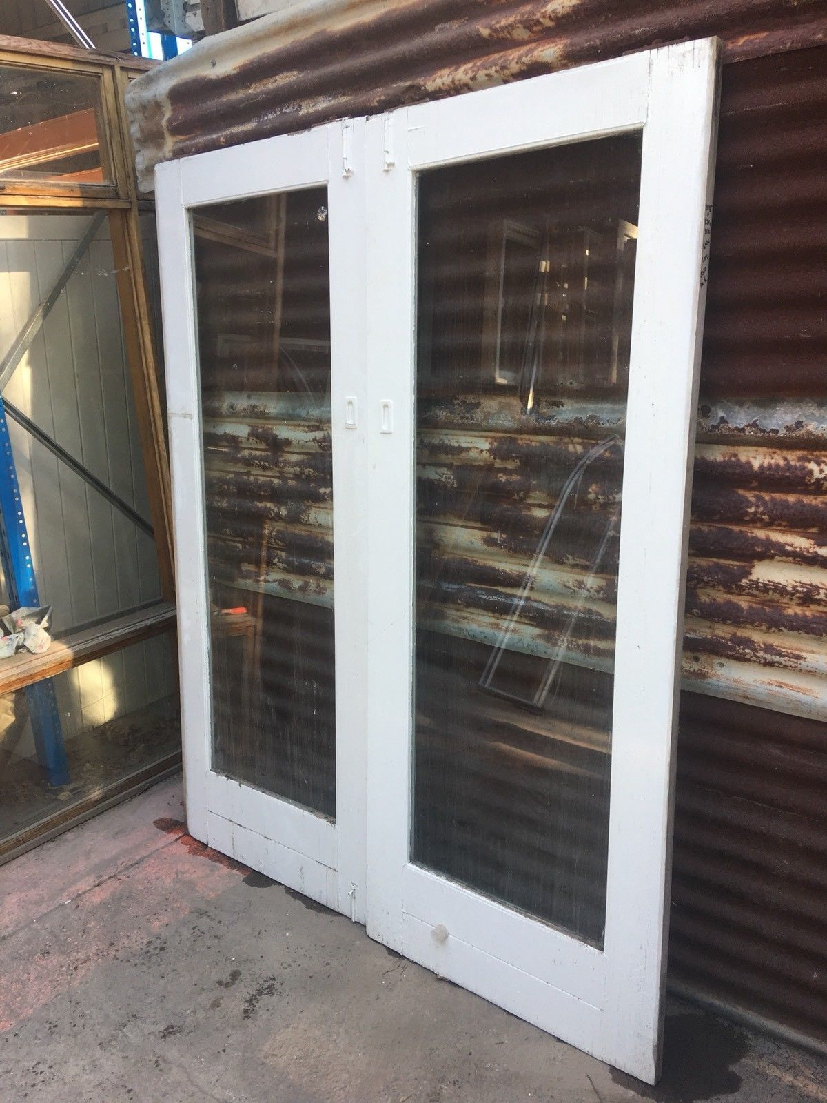 Solid Timber Sliding Doors With Clear Glass Panels 1640w X 2035h X 35d