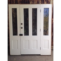 Lead Light Entrance Door way with Leadlight side lights. 1730w X 2100h